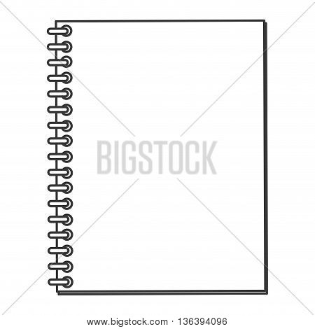 simple black line wired notebook icon vector illustration