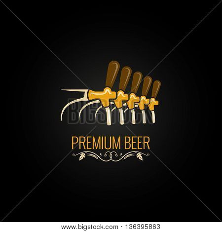 beer tap vintage ornate design background 10 eps