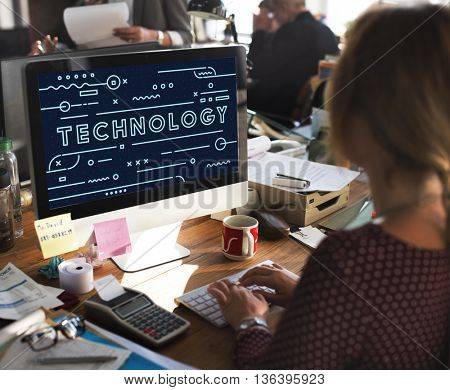 Technology Online Electronic Devices Graphic Concept
