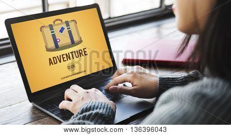 Adventure Backpacking Travel Destination Wander Concept
