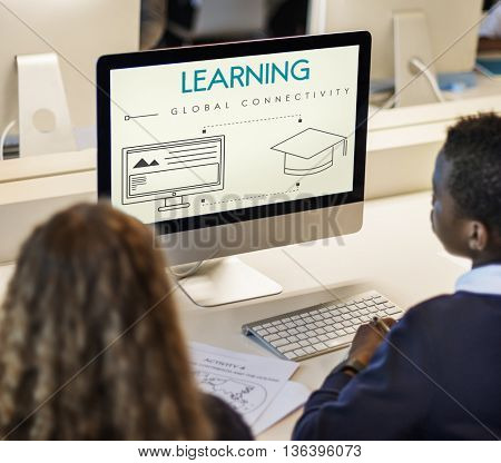 Learning Global Connectivity Technology Graphic Concept