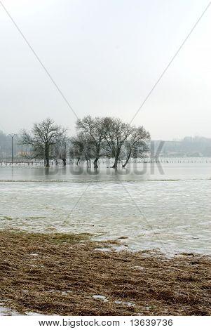 Frozen Floodwaters, France