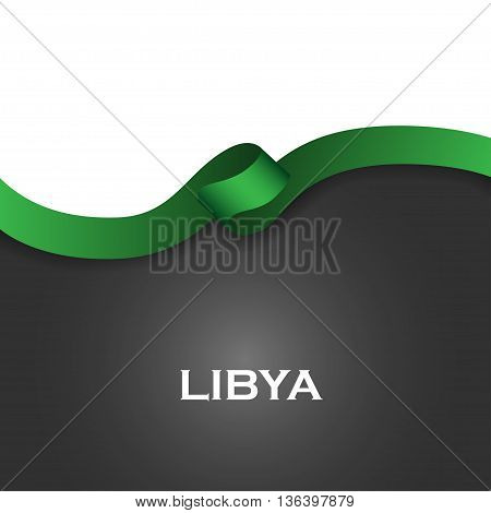 Libya Sport Style Flag Ribbon Classic Style. Vector Illustration