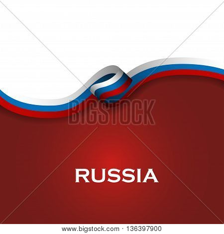 Russia Sport Style Flag Ribbon Classic Style. Vector Illustration