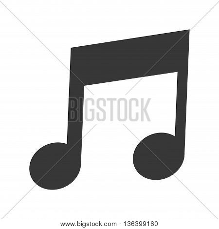 simple flat design eighth note icon vector illustration