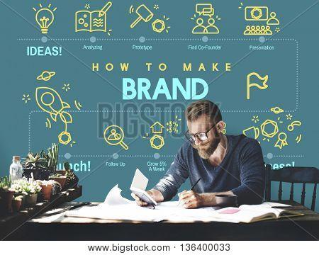 Brand Branding Copyright Label Logo Marketing Concept