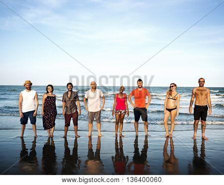 Summer Friendship Togetherness Vacation Enjoyment Concept