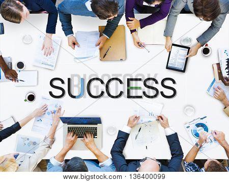 Success Goals Mission Target Achievement Concept