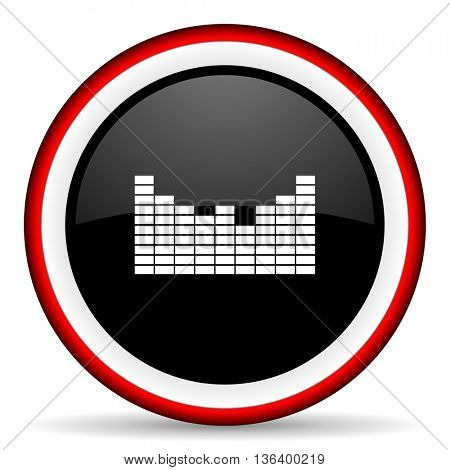 sound round glossy icon, modern design web element