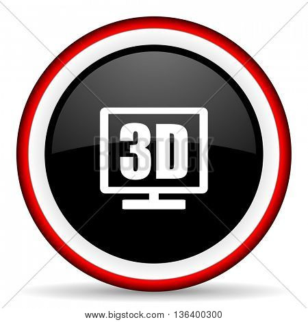 3d display round glossy icon, modern design web element