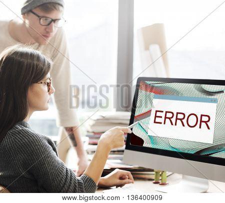 Error Disconnect Warning Failure AbEnd Concept