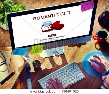 Romantic Gift Ring Surprise Romance Concept