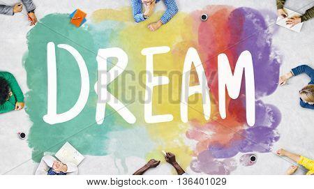 Dream Hopeful Inspiration Imagination Goal Vision Concept