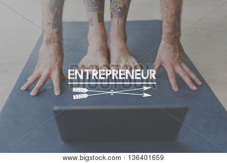 Entrepreneur Entrepreneur Dealer Employee Concept
