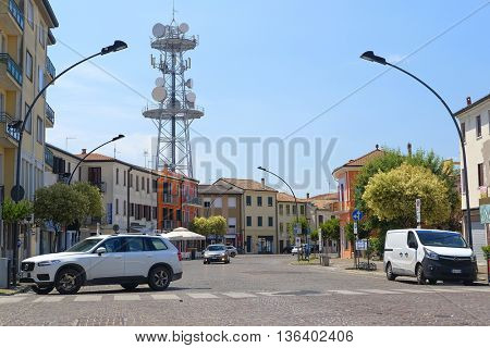 Adria, Italy - June, 29, 2016: cars on a parking in Adria, Italy
