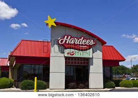 Indianapolis - Circa June 2016: Hardee's Retail Location. Hardee's and Carl's Jr. are Subsidiaries of CKE Restaurants