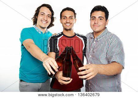 Beer Bottles In Guys Hands