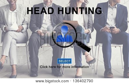 Head Hunting Company Hiring Human Resources Concept