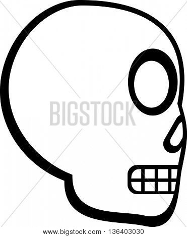 cartoon skull side view