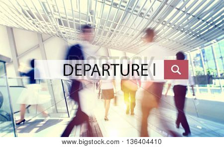 Departure Flight Travel Transportation Journey Concept
