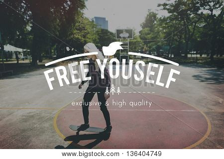 Free Yourself Human Rights Independence Peace Concept
