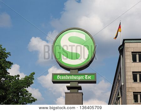 S-bahn Sign In Berlin