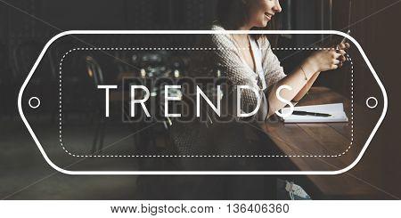 Trend Trendy Design Marketing Management Concept