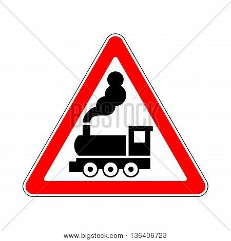 Illustration of Warning Signs Railway Crossing without Barrier