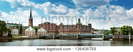 View to Vasabron in beautiful summer day at Stockholm. Sweden