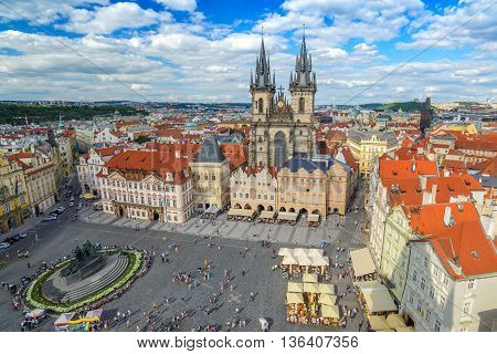 Old town square at Prague, Czech Republic