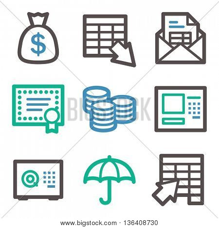 Finance icon, business vector web sign. Money infographics symbols.