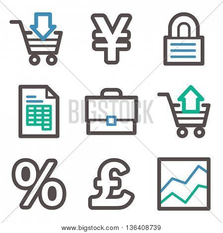 Finance icon, business vector web sign. Banking icon flat