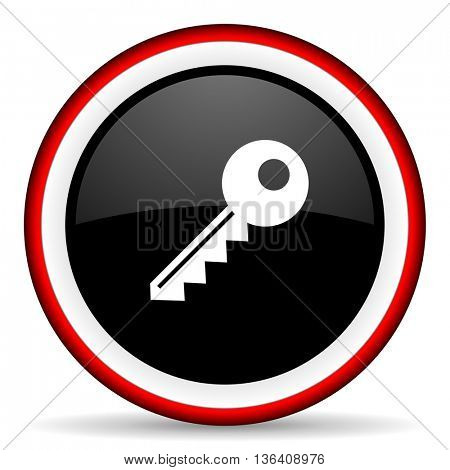 key round glossy icon, modern design web element