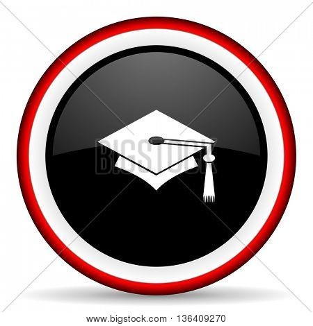 education round glossy icon, modern design web element