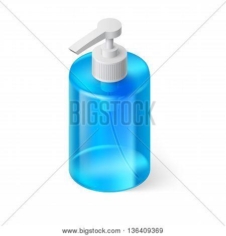 Transparent Bottle in Blue Color without Label
