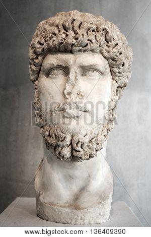 A Portrait of the emperor Lucius Verus