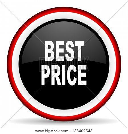 best price round glossy icon, modern design web element