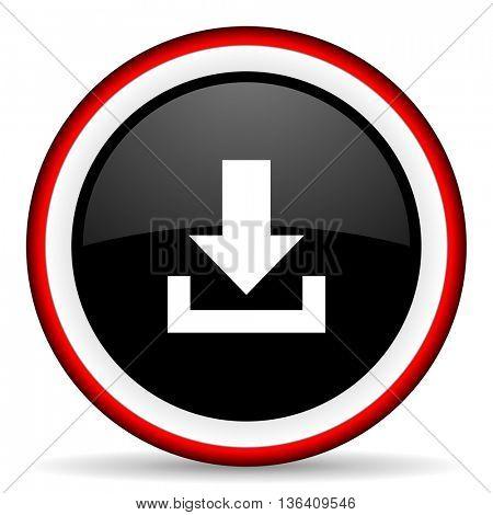download round glossy icon, modern design web element