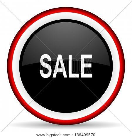 sale round glossy icon, modern design web element