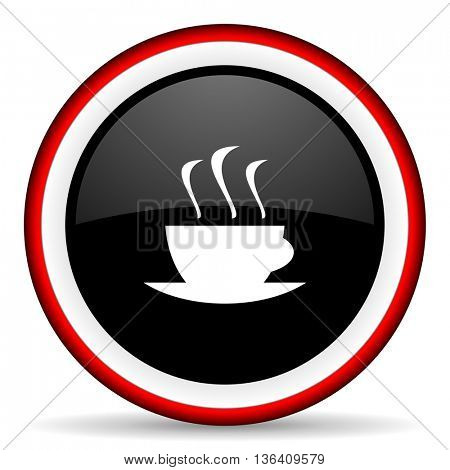 espresso round glossy icon, modern design web element