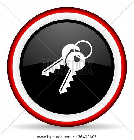 keys round glossy icon, modern design web element