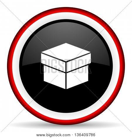 box round glossy icon, modern design web element