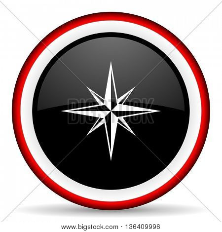 compass round glossy icon, modern design web element