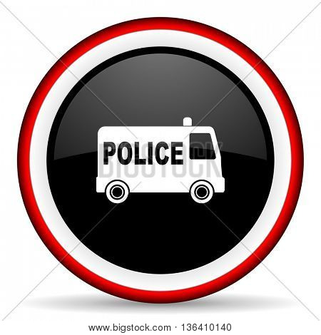 police round glossy icon, modern design web element