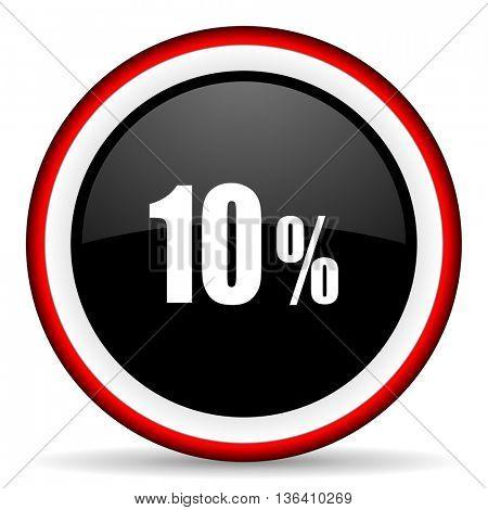 10 percent round glossy icon, modern design web element