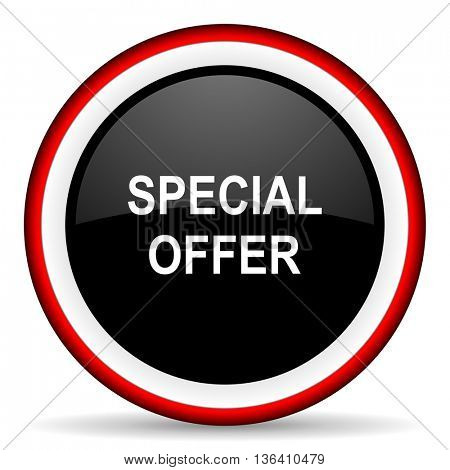 special offer round glossy icon, modern design web element