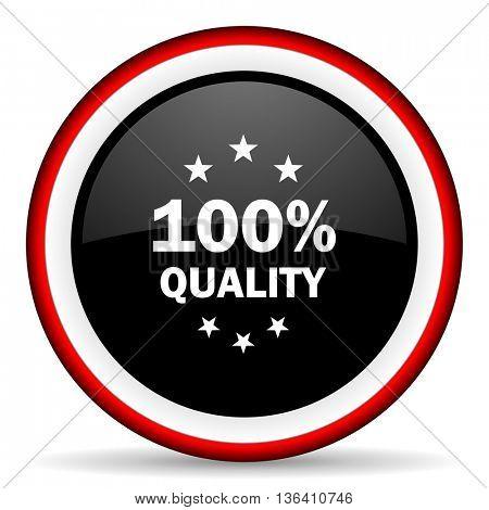 quality round glossy icon, modern design web element