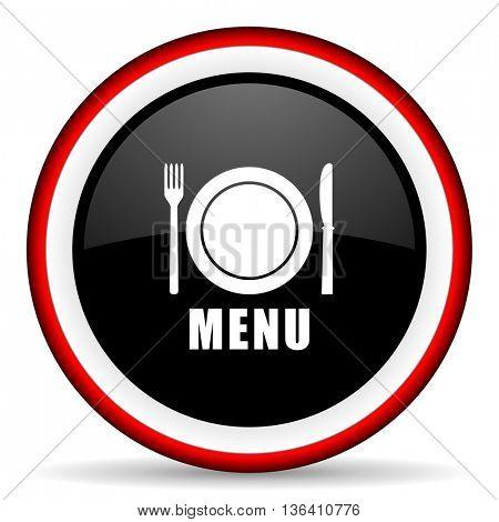 menu round glossy icon, modern design web element
