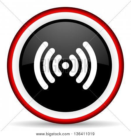 wifi round glossy icon, modern design web element