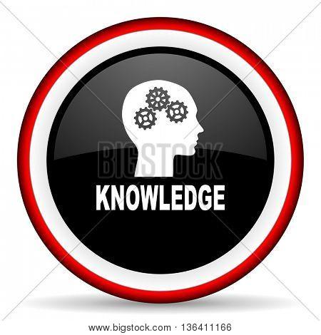 knowledge round glossy icon, modern design web element